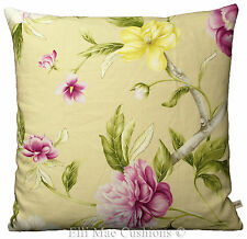 Zoffany Designer Cushion Pillow Cover Flowering Tree Lilac Green Yellow