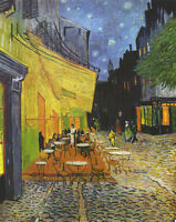 Oil Vincent Van Gogh - The Cafe Terrace on the Place du Forum, Arles at Night
