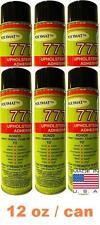 6 CANS 12 oz ea Polymat 777 Pool table and game room felt spray adhesive glue