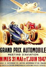 Art Poster - Grand Prix - 1947 - French Deco Advert  A3 Print