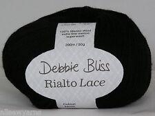 Debbie Bliss Rialto Lace Extra Fine Merino Knitting Wool Yarn 50g 1 Black 05