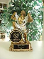 FANTASY FOOTBALL INDIVIDUAL RESIN SCULPTURE TROPHY WITH COLOR FFL LOGO m-rx3381b