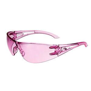 Radians Pink Temples Optima OP6767ID   Safety Glasses, Pink Lens