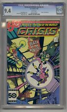 CRISIS ON INFINITE EARTHS #4 CGC 9.4 DEATH OF MONITOR WHITE PAGES