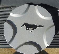 "17"" 1999 00 01 Ford Mustang GT silver hubcap center cap black horse emblem"