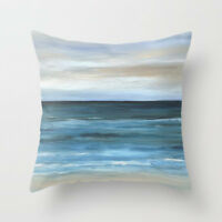 Throw Pillow Case Cushion Cover Made USA Sea View 266 blue ocean beach L.Dumas