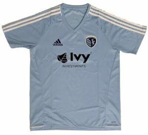 Sporting KC Kansas City MLS Adidas Light Blue Climacool SS Training Jersey
