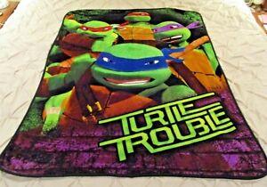 """Ninja Turtles Fleece Throw Blanket 44"""" x 58"""""""