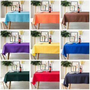 Plain Polyester Table Cloth Dinner Weddings Party Table Cover Cloth Rectangular