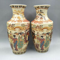 Chinese Jingdezhen Porcelain Vase hand-painted Maid Big Vase A pair