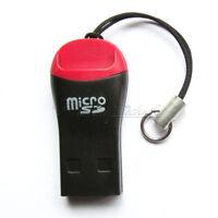 2PCS USB 2.0 Mini Micro SD T-Flash TF M2 Memory Card Reader Adapter High Speed