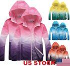 Waterproof Sunscreen Jacket Mens Womens Oversized Lightweight Rain Coat US STOCK