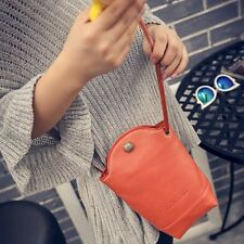 d3a17af065ba Women Solid Letter Printed Cell Phone Bag Casual PU Crossbody Bag Bucket Bag