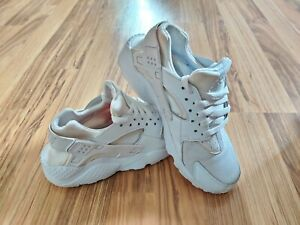 Nike Huarache Run GS White/White Sneakers 654275-110 Youth Size 6Y
