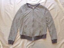 Abercrombie and Fitch Gray Crew Neck Sweatshirt Zip Up Women's Small