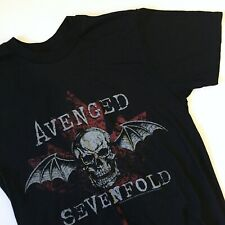 Avenged Sevenfold Women's Bat Skull Graphic Band T-Shirt Size Small