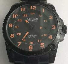 Citizen BJ8075-58F Eco-Drive Black Super Titanium Black Dial Watch Shock-Proof
