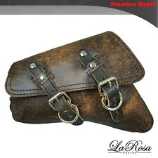 LaRosa Harley Sportster Saddlebag - 2004 UP Rustic Brown Leather Left Bag