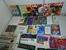 Lot of 1996 Atlanta Olympic Passes, brochures, maps, magazines, newspapers, etc