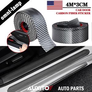 2X Accessories Carbon Fiber Car Door Plate Sill Scuff Cover Anti Scratch Sticker