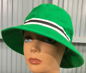 Green Cotton Size XL 7 1/2 One Size City Hunter Bucket Outdoors Cap Hat
