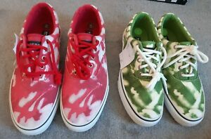 Sperry Top-Sider unisex casual lace-up shoes UK 7 green UK 9.5 red RRP: 67 GBP