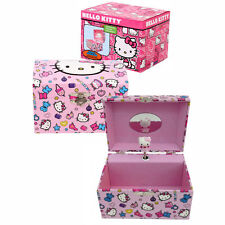 Dome Musical Jewelry Box Mirror Spinning Hello Kitty Figurine Caja de Musica PK