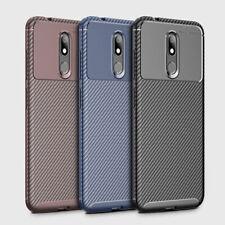 For Nokia 3 V Case Shockproof Carbon Fiber Texture Soft TPU Protective Cover