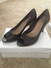 Faith Brown Animal Textured Shoes UK6