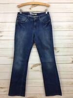 Joe's Women's Medium Wash Lightly Distressed Boot Cut Denim Jeans. Size 27(4).