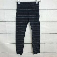 Lululemon High Times Pant Cyber Stripe Navy Blue Gray Size 6 Yoga Run