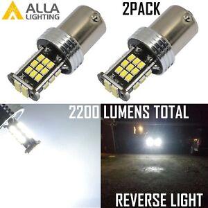 Alla Lighting 30-LED 199 Back Up Reverse Light Backup Lamp 6000K Bright White,2x