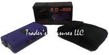 Purple LED Stun Gun Flashlight High Voltage with Nylon Holster Rechargeable