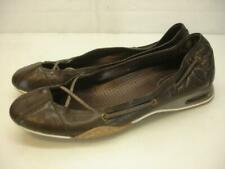 Women's 10 B M Cole Haan Air Bria Chocolate Brn Leather Ballet Flat Shoes Loafer