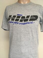 VTG 80s HIND PERFORMANCE GRAPHIC T SHIRT Heather Gray USA MADE S Running CYCLING