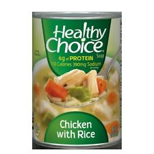6 Pk Healthy Choice Soup ~ Chicken & Rice, 15 OZ ~*+ FAST FREE SHIPPING ! +*~