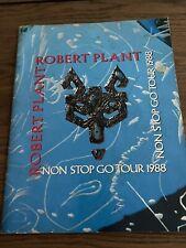 Robert Plant- Non Stop Go Tour-Concert Program Book-1988-Led Zeppelin