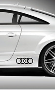 Audi rings logo decals pair of 2 stickers 20cm x 7cm  free postage