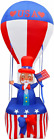 9Ft Patriotic Independence Day Inflatable Uncle Sam On Blue Red Best New Xmas