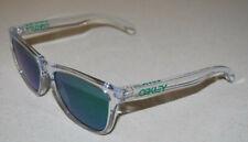 Oakley Frogskins Sonnenbrille oo9013-a3 Polished Clear/Jade Iridium NEU