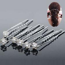 20pcs Wedding Bridal Pearl Flower Crystal Hair Pins Clips Bridesmaid