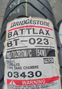 Pneu bridgestone battlax bt-023 front 110/70 zr 17 m/c (54w) tl
