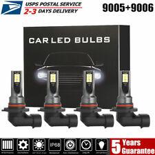 Mini 9005 9006 Combo LED Headlight Kit Conversion Fog HID Bulb High Power 6000K