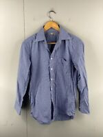 Uniqlo Men's Long Sleeve Button Up Shirt Size S Blue White Check