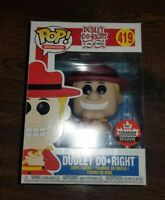 Funko Pop! Animation Dudley Do-Right Fan Expo Canadian Convention Exclusive #419