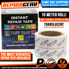 TUFF TAPE 10M / 30ft AWNING TARP TENT RV CARAVAN OUTDOOR BLIND REPAIR STORMSURE