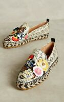 Anthropologie Sutton Embellished Espadrille Slip On Shoe Sz 6 by Bill Blass $225