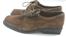 Hush Puppies women's size 6.5 shoes suede brown oxford block vintage heels