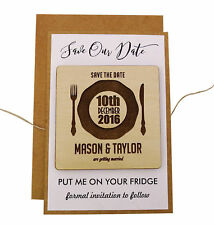 Personalized Magnets Wedding Save The Date Cards Favors With Envelopes-MG44