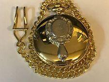 SPECCHIO A MANO TG99 peltro su un orologio da taschino in oro al quarzo Fob